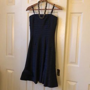 Adrianna Papel Boutique Navy Strapless Dress 6p